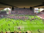 The first wave of pitch invaders from the Upper Bridgford
