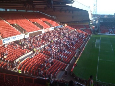 An impressive following from Sunderland for a midweek friendly